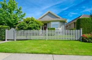 Home with a privacy fence