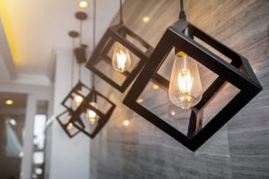 Close up image of modern lighting
