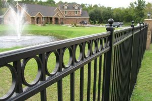 residential iron fence Carnahan White Fence Company Ironworks Iron Fence Design