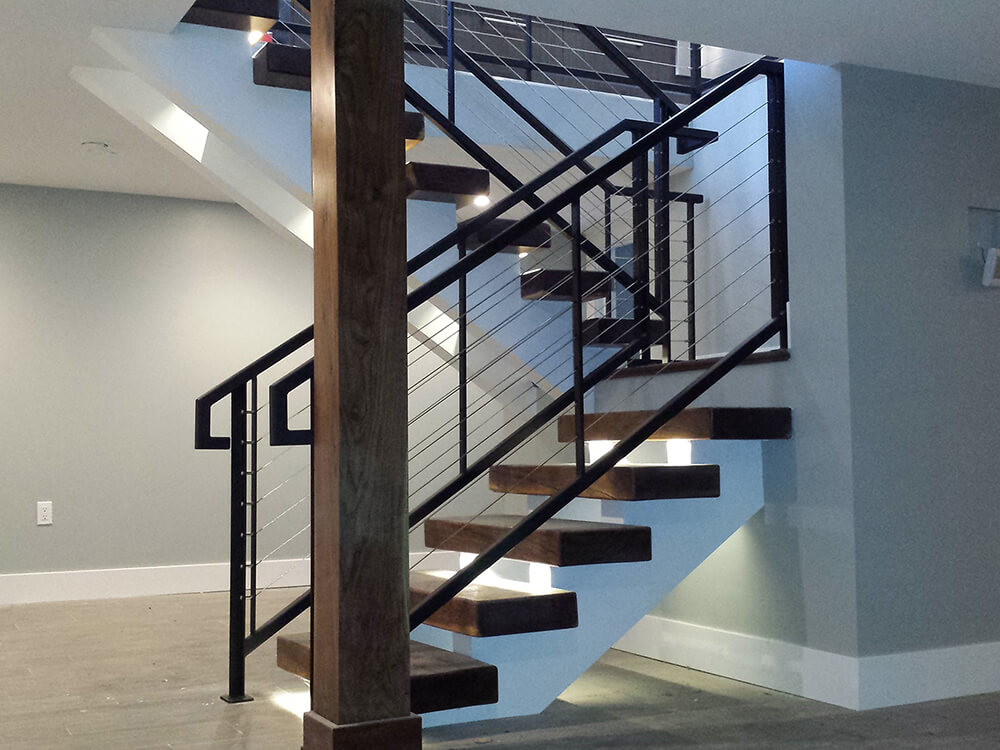 Cable Stairs 1000x750 Carnahan-White Fence Company
