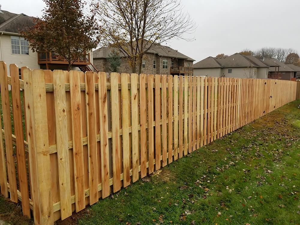 Carnahan White Privacy Fence Styles Cedar Shadowbox
