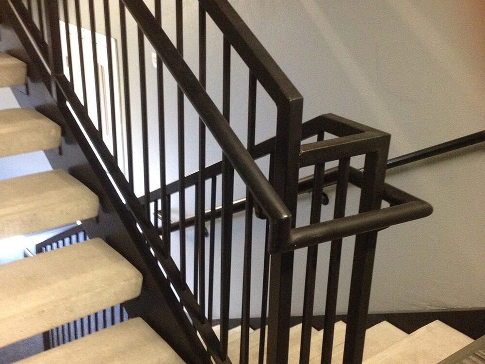 Interior Switch Back Guard Rails 1000x750 Carnahan-White Fence Company