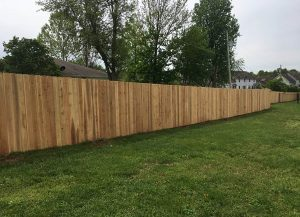 Residential privacy fence installed by carnahan-white fence company