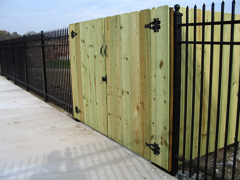 Iron and Wood Combo (1) Carnahan-White Fence Company