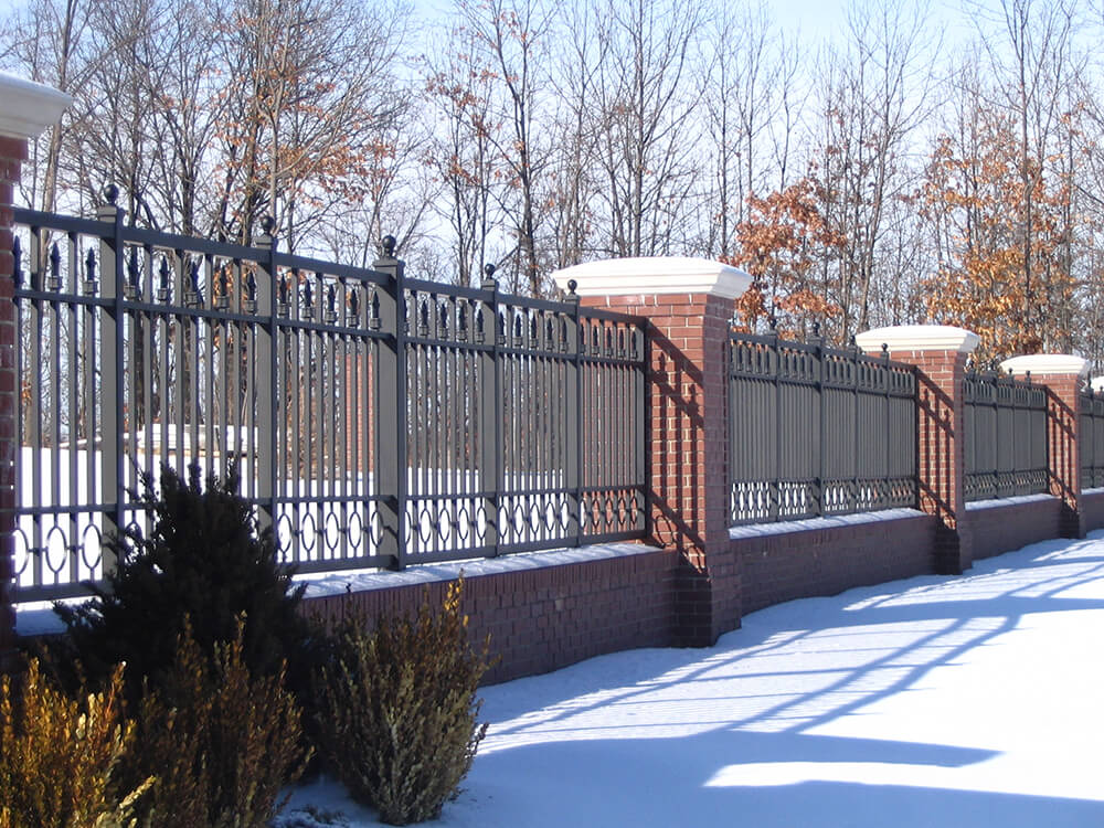 With Masonry Wall and Columns Carnahan-White Fence Company