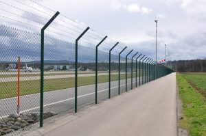 Security Fencing Around Airport