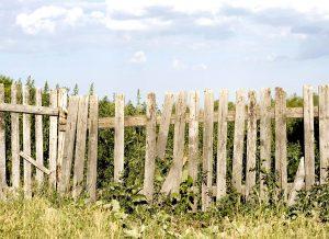 Old damaged fence