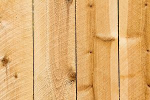Close-up of cedar fence planks