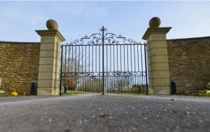 Attractive community gate