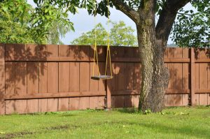 Carnahan White Fence Landscaping Trees