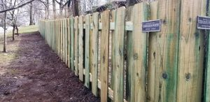 Shadowbox privacy fence installation by Carnahan-White