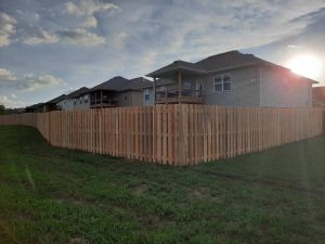 Wooden Privacy Fence at a home