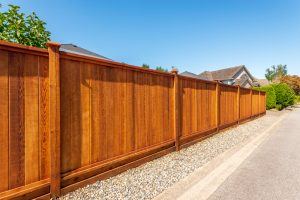 Stained Privacy Fence